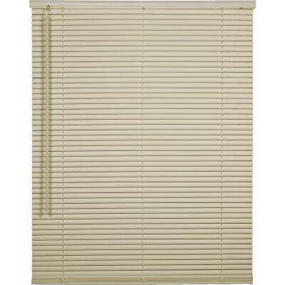 Home Impressions 23 In. x 64 In. x 1 In. Vanilla Vinyl Light Filtering Cordless Mini Blind