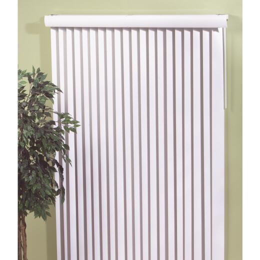 Home Impressions 78 In. x 84 In. White Vinyl Vertical Blinds